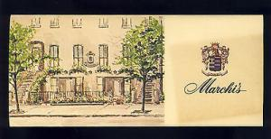 Vintage 1966 Marich's Restaurant Brochure,251 East 31st S...