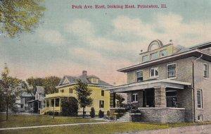 PRINCETON, Illinois, PU-1912; Park Ave. East looking East