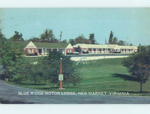 Pre-1980 MOTEL SCENE New Market - Near Luray & Harrisonburg Virginia VA G6568