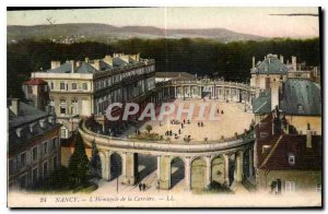 Old Postcard Nancy Hemicycle of the Carriere