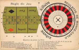 Gambling Related Post Card Roulette Gaming Table Unused