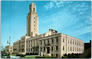 Pawtucket, Rhode Island Postcard CITY HALL Building / Street View c1960s Unused