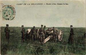 CPA  Militaire - Camp de la Braconne - Ecole de feu - Cessez le feu  (695872)