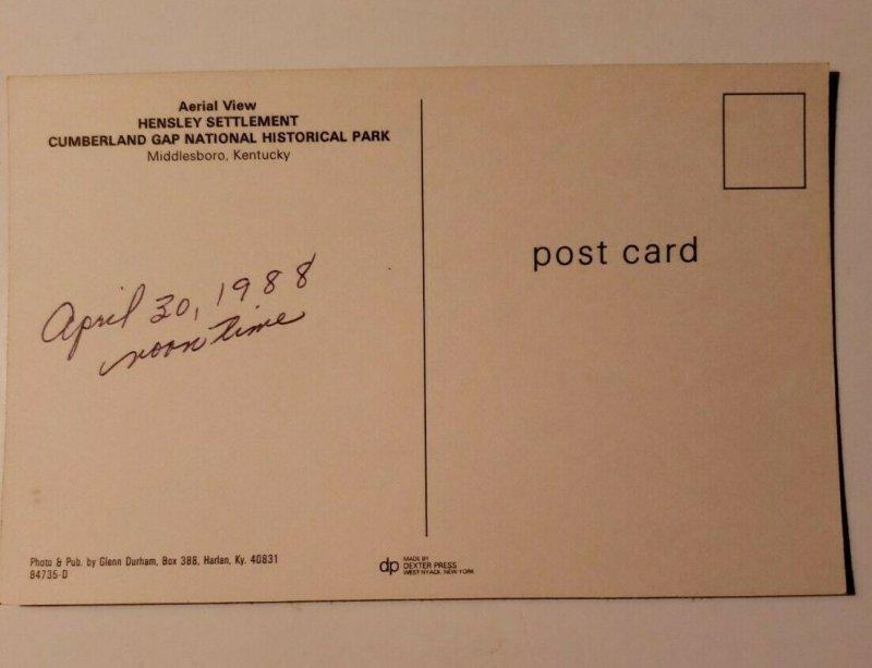 Vintage Postcard Hensley Settlement Cumberland Gab Middleboro Kentucky 1988  572
