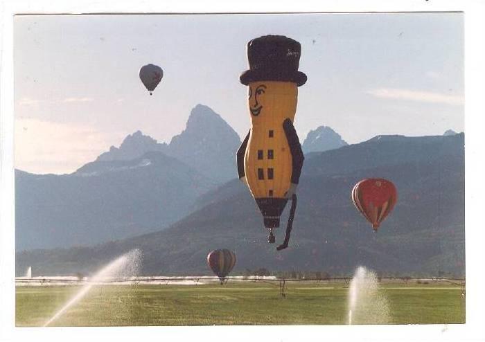 Mr Peanut Planters Balloon Teton Valley Balloon Festival 80 90s