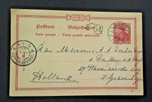 1901 Bonn Germany To The Hague s Gravenhage Netherlands Vintage Postcard