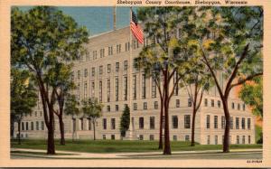 Wisconsin Sheboygan Sheboygan County Court House Curteich