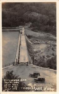 F21/ Ripigenus Dam Maine RPPC Postcard 1926 700ft Long 3rd Largest