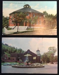 Postcards (2) Arkansas 1 Unused 1 Used(tear) LB