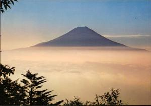 Mt. Fiji Vast Ocean of Clouds in summer Japan