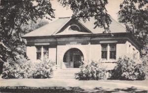 Presque Isle Maine~Presque Isle Public Library~1944 Sepia Litho Postcard