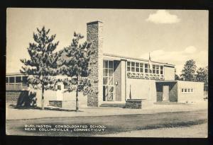 Collinsville, Conn/CT Postcard, Burlington School, 1955!