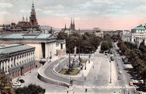 Ringstrabe mit Parlament Wien Austria 1962