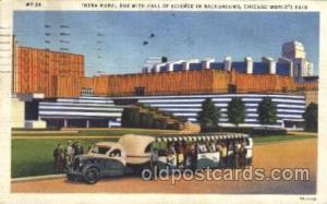 Hall of Science 1933 Chicago, Illinois USA Worlds Fair Exposition Postcard Po...