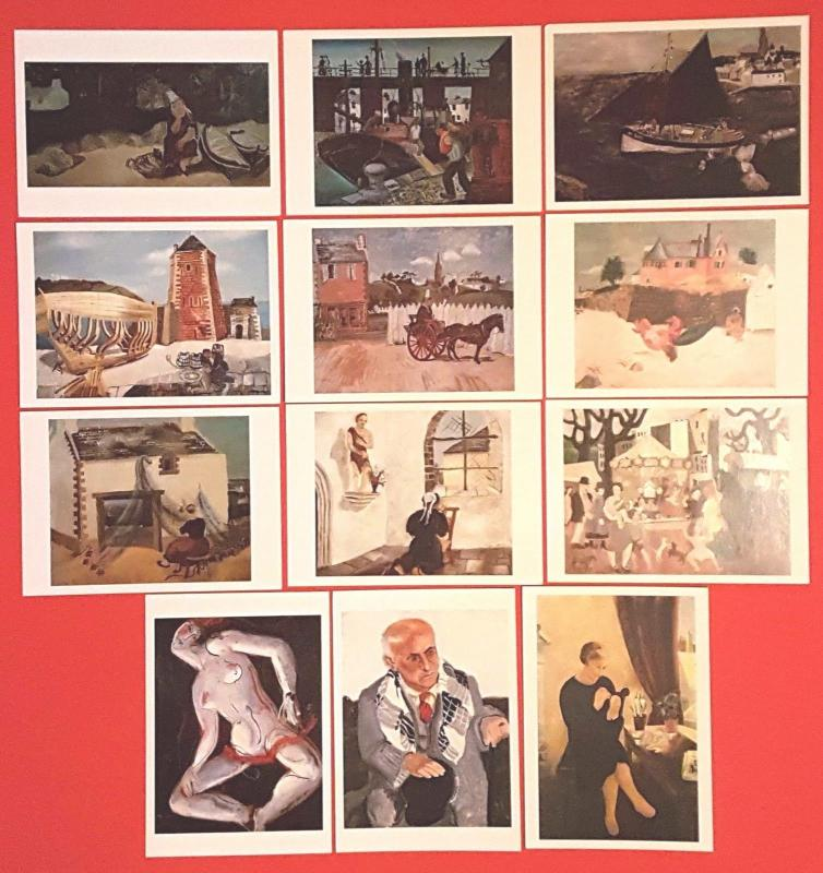 NEW Postcards Art Christopher Wood Collection of 12 Painting Prints Postcrossing