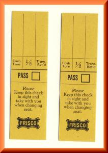 Frisco, St Louis & San Francisco Railway/Railroad/RR Tickets
