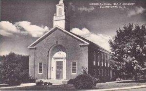 New Jersey Blairstown Memorial Hall Blair Academy Artvue