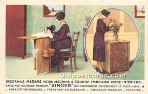 Advertising Postcard - Old Vintage Antique  Singer