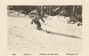 RP WILMINGTON, New York, 30-40s; Whiteface Mountain Ski Center, Skier on Trail 1