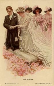 The Wedding - Artist: Harrison Fisher.    (Romance)