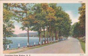 New York Greetings From Walton 1942 Curteich