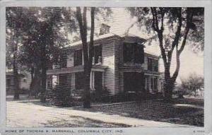 Indiana Columbia City Home of Thomas R Marshall