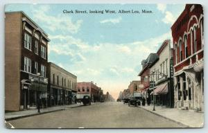 Albert Lea Minnesota~Clark Street~Lunch~Notions~25c Store~Clothing~Banquet~1914