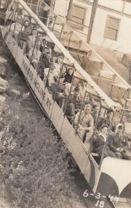 RP: MT. MANITOU, Colorado , 1930-40s ; Incline Railroad car