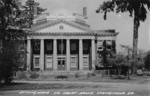 Springfield Georgia Effingham Court House Real Photo Antique Postcard K50723