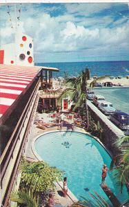 The Jolly Roger Hotel Pool Fort Lauderdale Florida 1959