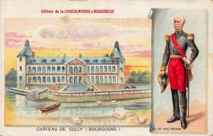 Advertising chromo Chocolaterie d'Aiguebelle ,marechal de MacMahon postcard