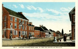 PA - York. Historic Scenes When York was USA Capital  No.4