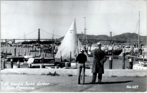 RPPC  SAN FRANCISCO, California ~ ST. FRANCIS YACHT HARBOR  c1940s Zan Postcard