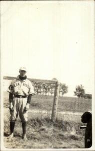 Alta Vista Altavista Baseball Player in Uniform - From Minnesota Lot RPPC myn