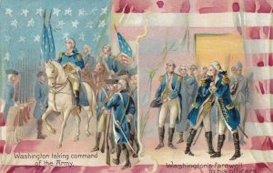 GEORGE WASHINTON, PU-1909; On Horseback & Farewell to officers, TUCK 124