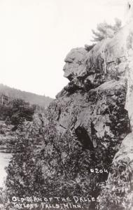 Minnesota Taylor's Falls Old Man Of The Dalles Real Photo