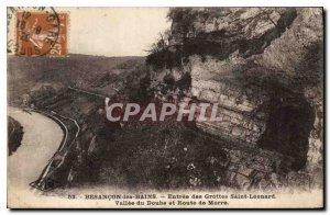 Old Postcard Besancon les Bains entrance Caves Saint Leonard Doubs Valley and...