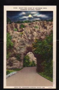 Virginia Postcard Backbone Rock Cherokee Nat Forest