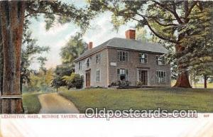 Munroe Taver, Earl Percy's Headquarters & Hospital, April 1775 Lexington, Mas...