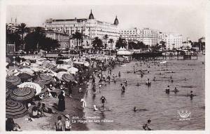 RP; La Plage et les Hotels, CANNES, Alpes Maritimes, France, 00-10s