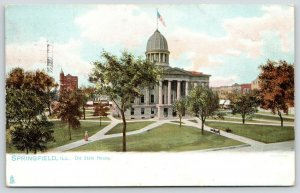 Springfield IL~Cochrane & Garnsey~Old State Capitol House & Grounds~1906 TUCK