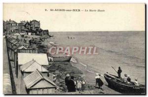 Postcard Old Saint Aubin sur Mer Maree Haute