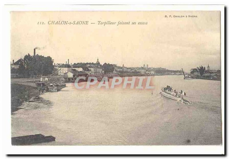 Chalon Sur Saone Old Postcard Torpedo making his essays