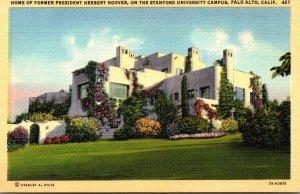 California Palo Alto Home Of Former President Herbert Hoover On The Stanford ...