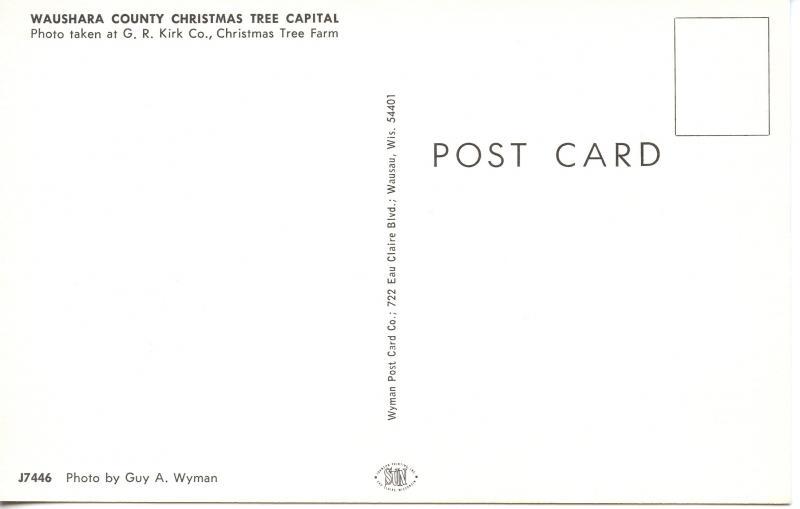 US    PC954 WAUSHARA COUNTY CHRISTMAS TREE CAPITAL