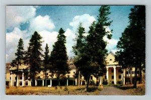 Yellowstone Natl Park WY- Wyoming, Lake Hotel, Lakeside, Chrome Postcard