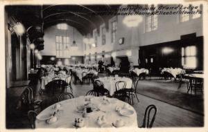 Elizabethtown Pennsylvania~Grand Lodge Hall-Masonic Homes Main Dining Room~RPPC