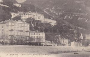 Hotels Bellevue, Italie Et Grande-Bretagne, MENTOS (Alpes Maritimes), France,...