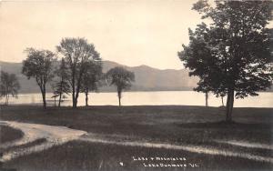 D76/ Lake Dunmore Vermont VT Real Photo RPPC Postcard c30s Lake Mountains