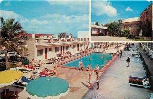 Miami Beach Florida~Sun Ranch Resort Motel~Poolside~Beach~1961 Postcard